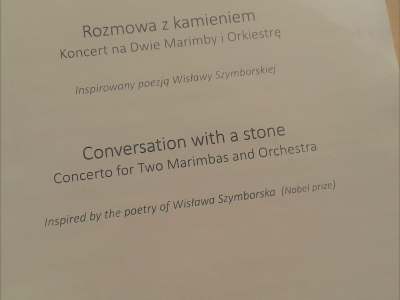 The Concerto for 2 Marimbas and Symphonic Orchestra